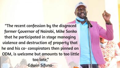 Photo of ODM has always been a peaceful party, Sonko should keep exposing those who have been giving ODM  a bad name- Edwin Sifuna.-