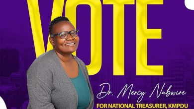 Photo of Dr. Mercy Nabwire to run in the forthcoming KMPDU national elections as treasurer.