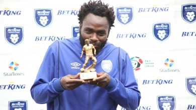 "Photo of AFC leopards danger man Elvis "" Machapo' Rupia bags the Betking Premier league player of the months."