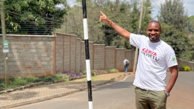 Photo of Francis Atwoli Road sign formerly Dik Dik road being manned by goons' Bonface Mwangi claims.
